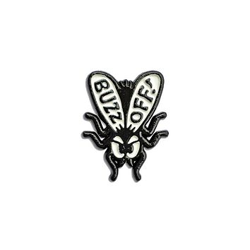 Buzz Off Fly Pin