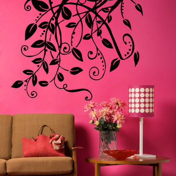 Vinyl Wall Decal Sticker Hanging Leaves And Vines #5326