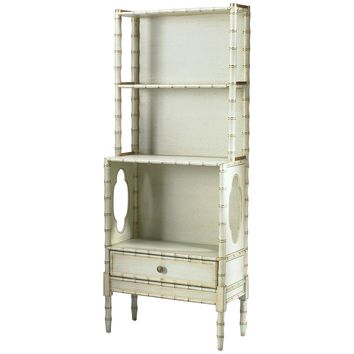 Bamboo Cream Painted Bookcase