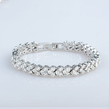 Gift New Arrival Great Deal Awesome Hot Sale Shiny Diamonds Roman Stylish Autumn Bracelet [6586246535]