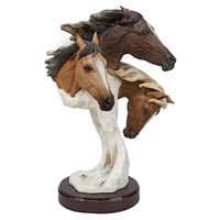 Park Avenue Collection Large Racing The Wind Wild Horse Statue