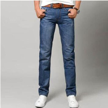 DCCKJG2 2016 explosion models Slim men's jeans loose straight jeans fashion blue jeans / male solid color pencil long Slim Fit Men Jeans