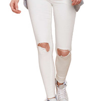 Ripped Jeans in White