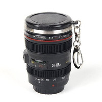 Cool Mini Camera Lens Stainless Steel Thermos Travel Mug Gift