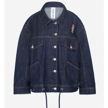 Oversized rooster demin jacket