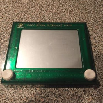 Vintage Classic 1960s ETCH A SKETCH Toy Ohio Art Magic Screen-Green