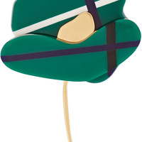 Marni - Resin, horn and gold-plated brooch