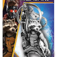 Marvel Rocket Raccoon Pewter Key Ring
