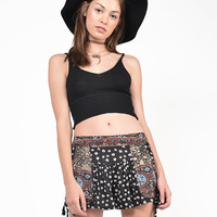 Tribal Contrast Floral Shorts