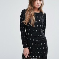 New Look Premium Embellished Shift Dress at asos.com