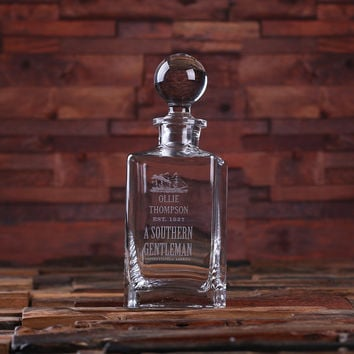 Personalized Whiskey Decanter with Global Bottle Lid – A
