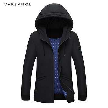 Varsanol Winter Duck Down Jacket Coat Warm Parkas Thick Casual Style Slim Hooded Loose Long Thicken Overcoat Length Overcoat New