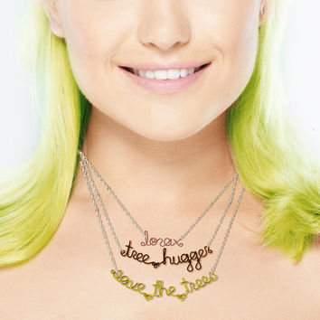 Rainforest Charity Necklace - Personalized Gift - Proceeds Go To Charity - Shop For a Cause - Environmentalism Jewelry - Activist Bracelet