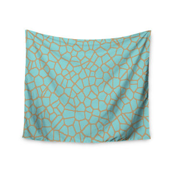 "Trebam ""Staklo III"" Blue Brown Wall Tapestry"