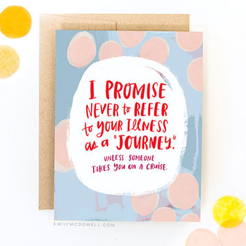 Illness Is Not A Journey Empathy Card™