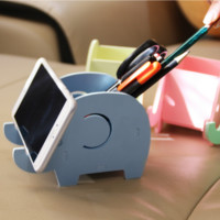 Cute Elephant Phone Holder Pen Holder