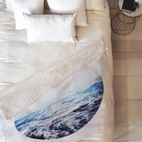 Leah Flores Surf Fleece Throw Blanket