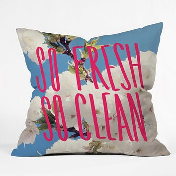 Leah Flores So Fresh So Clean Throw Pillow