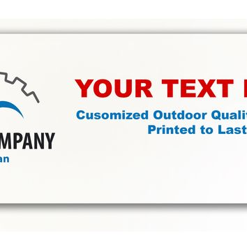 Custom 6 x 2.5 Foot Outdoor Single Sided Banner