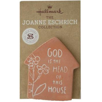 God is the Head of This House Clay Magnet ( Case of 24 )