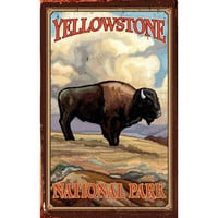 Personalized Yellowstone National Park Wood Sign