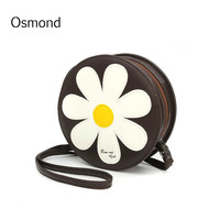 2016 Fashion Women Shoulder Bag Trend Style Sunflower Round Small Ladies Crossbody Sweet Valentine's Day Gifts Messenger Bags