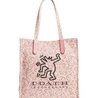 COACH x Keith Haring Dancing Man Floral Canvas Tote | Nordstrom