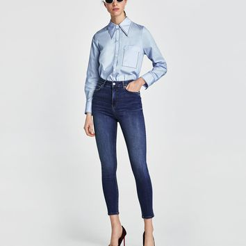 JEANS HIGH WAIST NICOLE BLUE