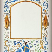 Empty Border #2 - The Forgotten Shield. Renaissance / Medieval illuminated manuscript style border Art Print by Tess Elizabeth