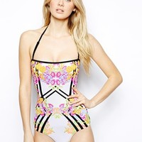 River Island Giant Floral Swimsuit