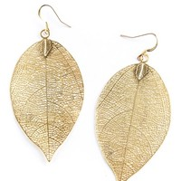 Leaf Stencil Earrings