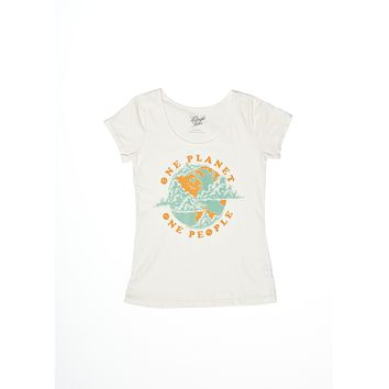 One Planet One People Ballet Tee - Coconut