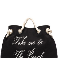 Wildfox Couture Take me to The Beach/Bel Air Reversible Tote in Yellow