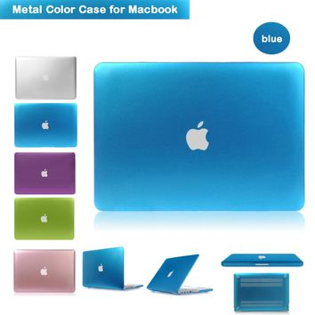 Luxury Metallic Blue Case for Macbook air 13.3 Laptop Sleeve Case Ultra Slim Cover for Apple Macbook 13.3inch Air /Rro/Retina