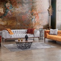 Afsar Furniture Jersey Collection Palermo Modern Sectional