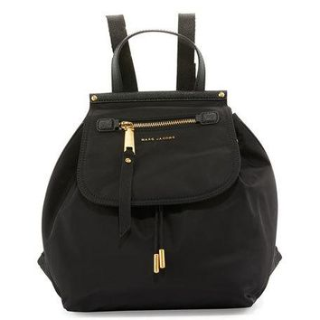 Marc Jacobs Trooper Nylon Flap Backpack, Black