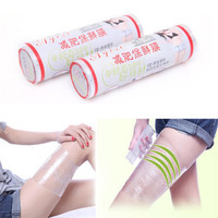 1 roll Fat Burner Plastic Belt Wrap Slim Patches Slimming Patch Loss Weight Fitness Health Pad Drop #M02131