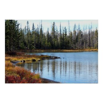 "Serenity lake 19"" x 13"",Value Poster Pape(Matte)"