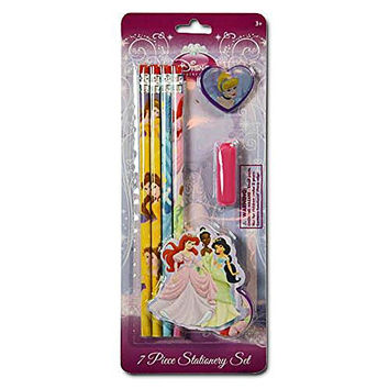 Disney Princess 7pk Stationery Set - Pencils, Stickers & More