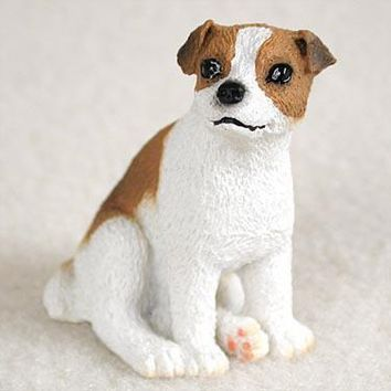 JACK RUSSELL TERRIER BROWN & WHITE W/SMOOTH COAT TINY ONE FIGURINE