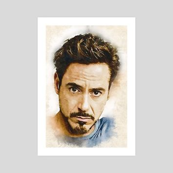 A Tribute to Robert Downey Jr, an art print by Dusan Naumovski