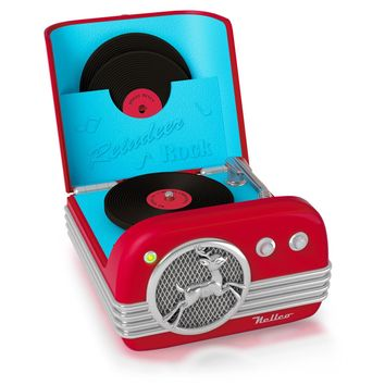 Musical Interactive Reindeer Rock Record Player Ornament