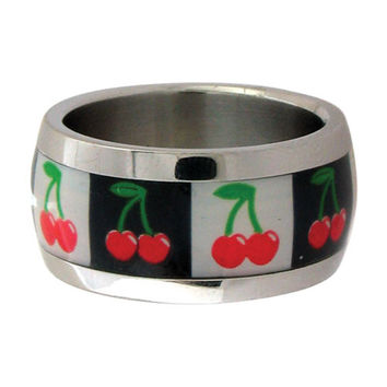 Inox Jewelry Cherry 316L Stainless Steel Ring