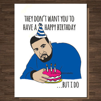 Funny Birthday card, DJ Khaled, Rapper Birthday Card, Dj Khaled Birthday Card