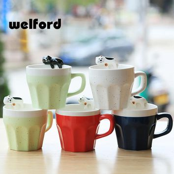 300ml cartoon cat Ceramic coffee Mug tea milk Cup