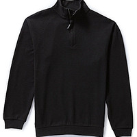 Roundtree & Yorke Big & Tall Quarter-Zip Mock-Neck Pullover
