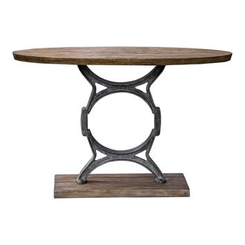 Wynn Industrial Tapered Oval Console Table by Uttermost