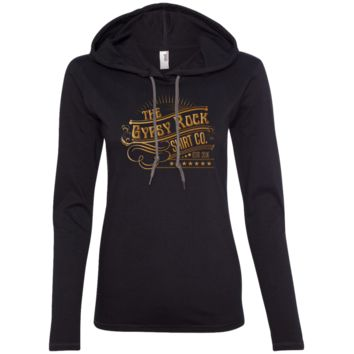 Ladies Gold Gypsy Rock Logo LS T-Shirt Hoodie