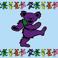 Grateful Dead Dancing Bear Pillowcase -- Standard Size -- 1 case per pack
