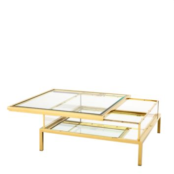 Gold Square Coffee Table | Eichholtz Harvey